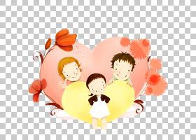 友谊日心灵背景,幸福,友谊,橙色,微笑,情人节,孩子,花瓣,花,心,母