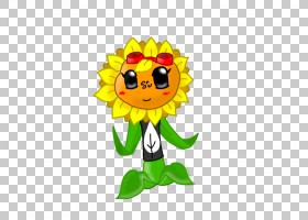 向日葵植物VS僵尸,卡通,雏菊家庭,笑脸,植物,微笑,向日葵,叶,花,