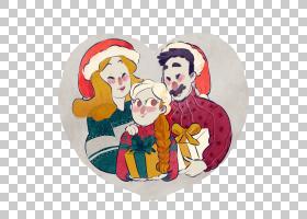 圣诞家庭,编辑,女儿,儿子,圣诞节,卡通,家庭,