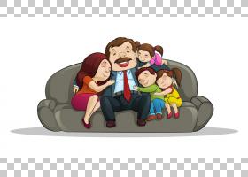 家庭卡通,卡通,友谊,坐着,母亲,家庭晚会,父亲,孩子,沙发,家庭,图片