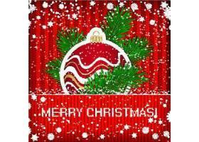 雪花元素圣诞节主题装饰插画设计