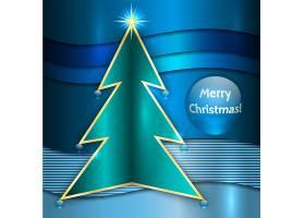 蓝色现代圣诞