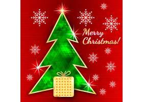 绿色菱格圣诞树