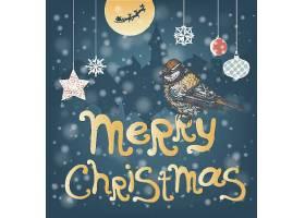 圣诞主题装饰插画设计