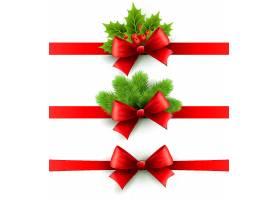 圣诞主题红色彩带领结素材