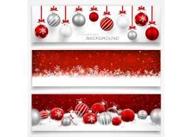 圣诞节红色彩球节日气氛装饰标签