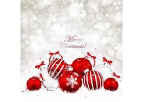 圣诞节红色彩球节日气氛装饰元素