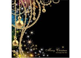璀璨闪耀的圣诞主题装饰背景设计