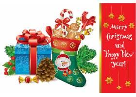 圣诞节主题装饰物品元素插画设计