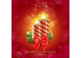 圣诞节圣诞树蜡烛灯饰装饰元素插画设计
