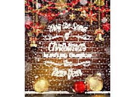 圣诞节平安夜节日气氛装饰背景