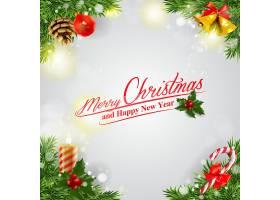 圣诞节圣诞树灯饰装饰元素插画设计