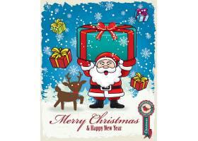 创意圣诞老人主题装饰插画设计