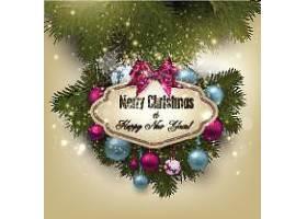 圣诞节新年快乐装饰元素标签设计