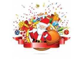 圣诞节平安夜礼物送礼促销装饰插画设计