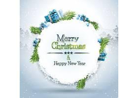 冬季圣诞节新年快乐装饰标签设计