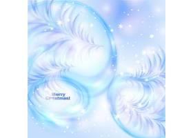 冬季雪白的羽毛主题圣诞装饰背景设计