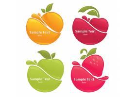 圆形简洁水果主题LOGO图标设计