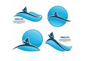 蓝色水元素主题LOGO图标标签设计