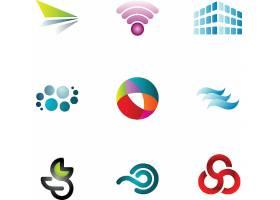 九款图形组合现代简洁LOGO设计