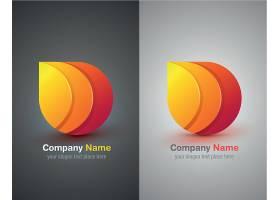 高质量的炫彩渐变几何图形组合商务通用LOGO设计