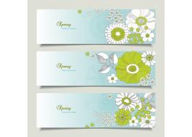创意线条春天主题花卉标签设计