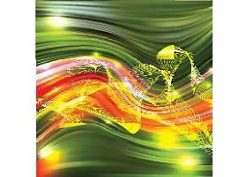 炫彩渐变的流动线条矢量素材