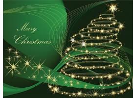 流动线条璀璨闪耀的新年圣诞节平安夜主题装饰背景