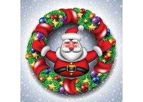 新年快乐圣诞节平安夜装饰元素插画设计