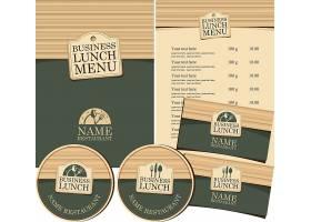 文艺木板材质咖啡餐厅主题装饰菜单标签整套设计
