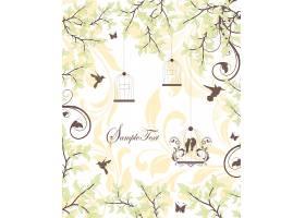 手绘植物花卉邀请函封面设计