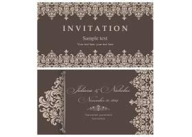 欧式花纹底纹大气婚礼邀请函通用模板设计