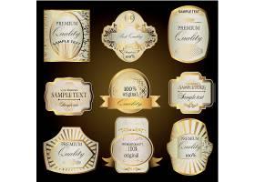欧式金色大气标签设计