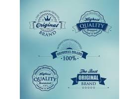单色个性英文标签设计