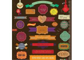 创意个性缎带丝带主题促销标签设计