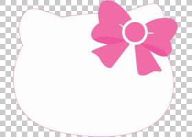 Hello Kitty新年,线路,洋红色,植物,花瓣,花,粉红色,新年,除夕,打