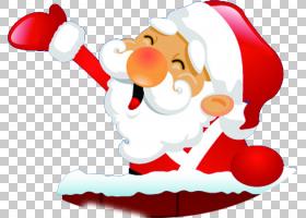 红色圣诞树,圣诞老人,圣诞节,假日,圣诞装饰品,礼物,圣诞树,绘图,图片