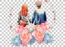 粉红色花卡通,花卉设计,花瓣,桃子,花,粉红色,浪漫,七夕节,卡通,图片
