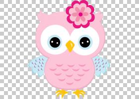 粉红色花卡通,鸟,微笑,喙,鼻子,猛禽,脸颊,眼睛,花,粉红色,PNK,卡