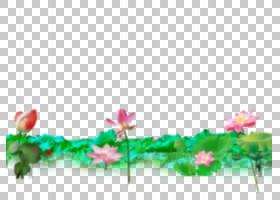 粉红色花卡通,草,线路,插花,绿色,植物群,花卉,天空,对称性,叶,植