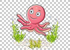 粉红色花卡通,草,花,植物,粉红色,安卓,海藻,海床,模板,卡通,海,