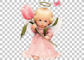 粉红色花卡通,蹒跚学步的孩子,微笑,雕像,花瓣,玩偶,桃子,花,粉红