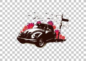 经典汽车背景,贴纸,洋红色,车辆,粉红色,冲浪艺术,复古风格,老爷