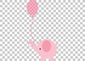 粉红色气球,红色,线路,洋红色,看到粉红色的大象,孩子,粉红色,象图片