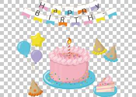 粉红色生日蛋糕,奶油,党的供应,糊料,食物,生日蜡烛,菜肴,巧克力