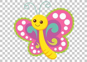 粉红色花卡通,动物形象,花,瓢虫,婴儿玩具,面积,线路,传粉者,昆虫