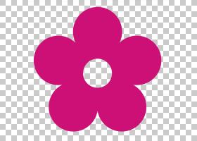 粉红色花卡通,圆,洋红色,紫罗兰,符号,花瓣,心,粉红色,粉红色的花