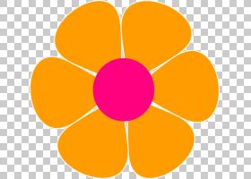 粉红色花卡通,圆,线路,橙色,黄色,花瓣,对称性,玫瑰,粉红色,红色,