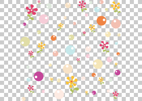 粉红色花卡通,圆,线路,花瓣,花卉设计,黄色,包装纸,面积,点,花,粉