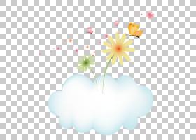 粉红色花卡通,天空,叶,植物群,植物,心,粉红色,花瓣,黑板学习,花